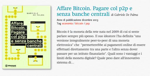 Affare Bitcoin di Gabriele De Palma